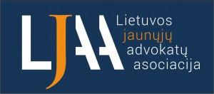 LJAA logo su uzrasu CMYK spalvotas negatyvas JPG