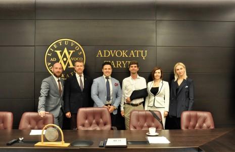LJAA valdyba susitinka su Lietuvos Advokatūros pirmininku